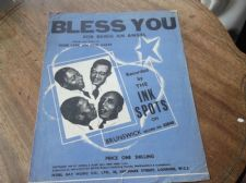 VINTAGE ORIGINAL SHEET MUSIC 1939 BLESS YOU FOR BEING AN ANGEL INK SPOTS